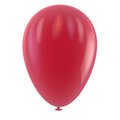 Red balloon clipping path included for easy selection Stock Photo