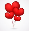 Red balloon heart shape illustration of Stock Image