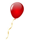 Red balloon isolated on white Stock Photos