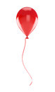 Red balloon isolated on a white background Royalty Free Stock Photography