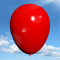 Red Balloon On Sky Background Stock Photos