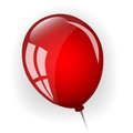 Red balloon on a white background Stock Images