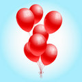 Red balloons some beautiful and glossy ballons Stock Images