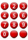 Red balls with white numbers Royalty Free Stock Images