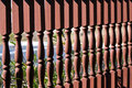 Red balusters Stock Photography