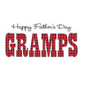 Red bandana gramps happy fathers day