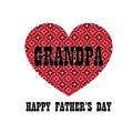 Red bandana heart grandpa fathers day