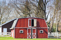 Red barn american countryside Royalty Free Stock Images