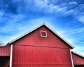 Red Barn Blue Sky Royalty Free Stock Photo