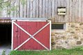 Red Barn Door Royalty Free Stock Photo