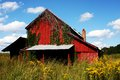 Red Barn in Saddletree Royalty Free Stock Photo