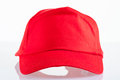Red baseball cap Royalty Free Stock Image