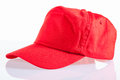 Red baseball cap Stock Image