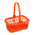 Red basket for bottles Stock Photo