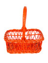 Red basket for bottles Stock Images