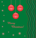 Red baubles background with text Stock Images