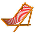 Red beach chair 3d Royalty Free Stock Images
