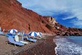 Red Beach, Santorini island (Thira), Greece Stock Photos
