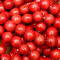 Red beads Royalty Free Stock Image