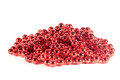 Red beads isolated for new year decoration Stock Image