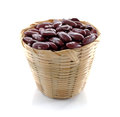 Red bean isolated on white background Royalty Free Stock Photo