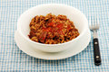 Red Beans and Rice with Sausage Stock Photography