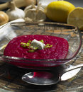 Red beet cream Royalty Free Stock Photo