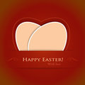 Red beige Happy Easter background Royalty Free Stock Images