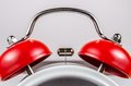 Red bell of alarm clock Royalty Free Stock Photo