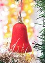 Red bell as a decoration Royalty Free Stock Images
