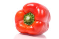 Red bell pepper on white background with reflection Stock Photo