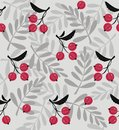 Red berries a seamless pattern