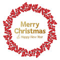Red berry wreath christmas christmas merry christmas holiday xmas branch natural decoration Stock Photos