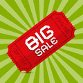 Red Big Sale Paper Ticket Royalty Free Stock Photo