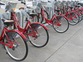 Red Bikes Royalty Free Stock Photos