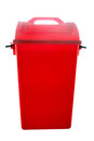 Red bin the on white background Stock Photography