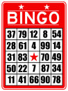 Red bingo card Royalty Free Stock Photo