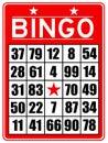 Red bingo card Royalty Free Stock Photo