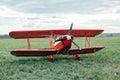 Red biplane Royalty Free Stock Photo