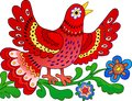 Red bird sing Royalty Free Stock Images