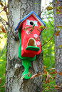 Red birdhouse Royalty Free Stock Photo