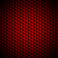 Red and black abstract background with hexagons cubes pyramids Stock Photography