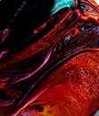 red and black Abstract colorful Long Exposure Sparkly Lights Background and beautiful Royalty Free Stock Photo