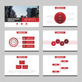 Red black Abstract presentation templates, Infographic elements template flat design set for annual report brochure flyer leaflet