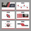 Red black Abstract presentation templates, Infographic elements template flat design set for annual report brochure flyer leaflet Royalty Free Stock Photo