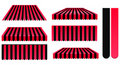 Red and black awnings Stock Photography
