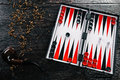 Red and black backgammon Royalty Free Stock Photo