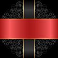 Red black and background with ornaments Stock Image
