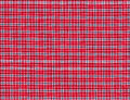 Red black and blue tablecloth Stock Photography