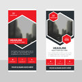 Red black Business Roll Up Banner flat design template